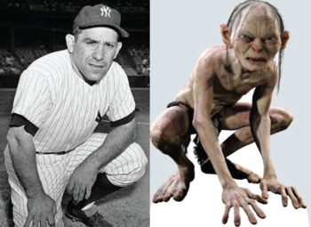 Yogi Berra and Gollum