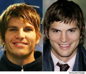 Kyle Korver and Ashton Kutcher