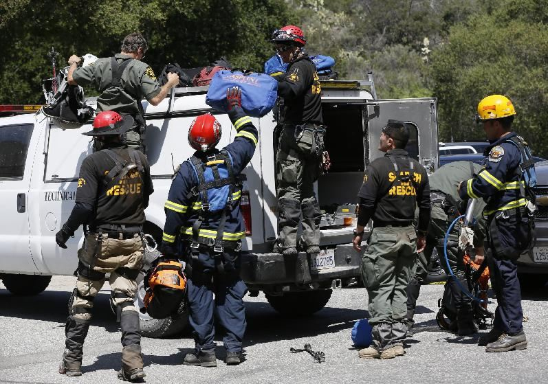 Orange County Sheriff's Technical Rescue crew gather