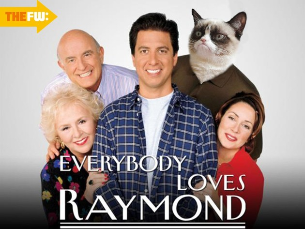 Grumpy Cat Loves Raymond