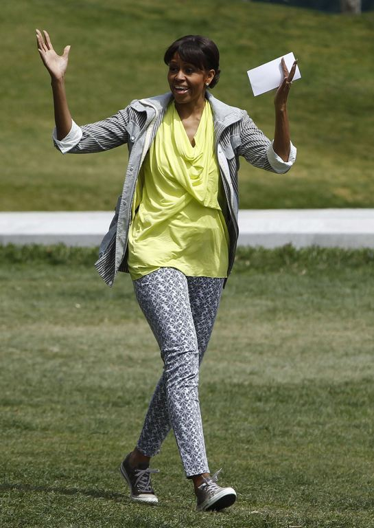 Michelle Obama Happy With the garden