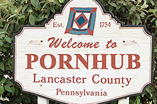 Amish Town Blue Ball, PA Accepts $1 Million to Become Pornhub, PA