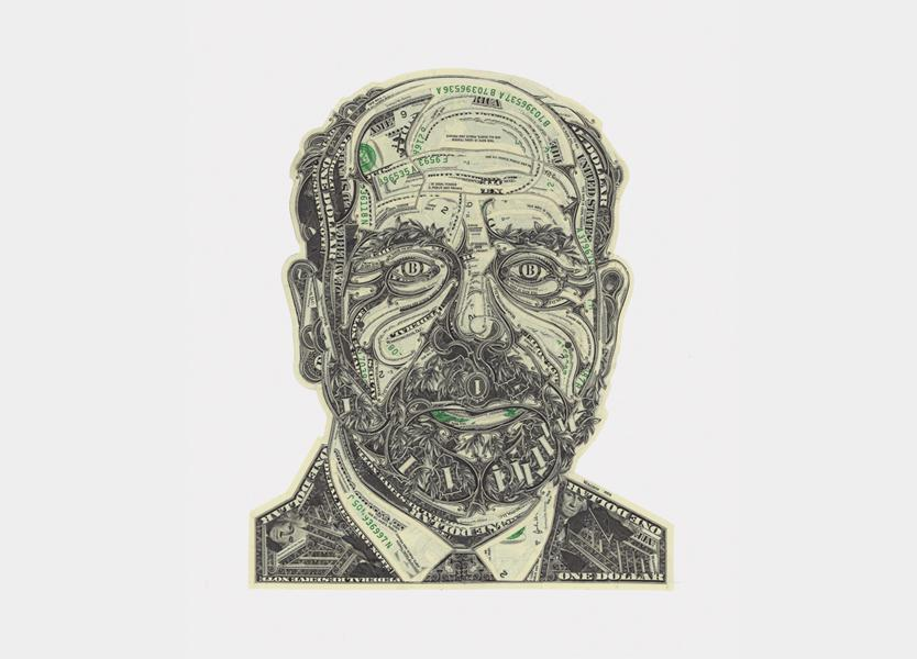 Beautiful Collages Made of Dollar Bills