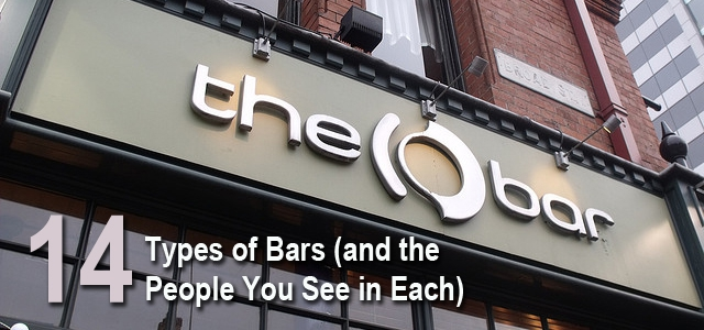 The 14 different Types Of Bars