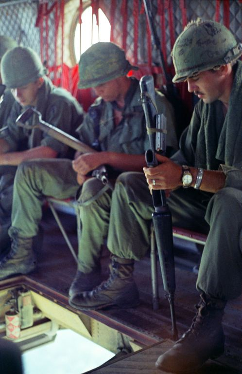 Soldiers saying a prayer