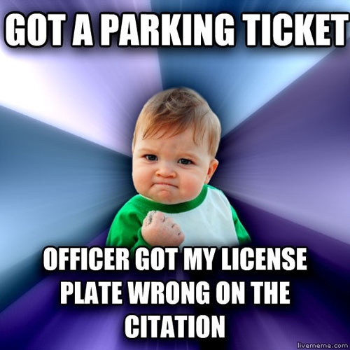 Parking ticket win