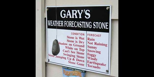 Gary's weather rock