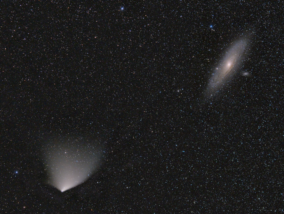 Comet PANSTARRS and the Andromeda Galaxy