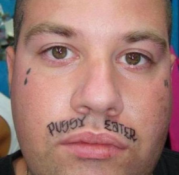 A tattoo instead of  mustache