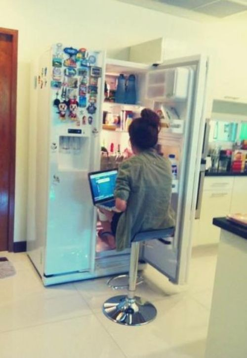 Lazy people use fridge instead of air conditioning