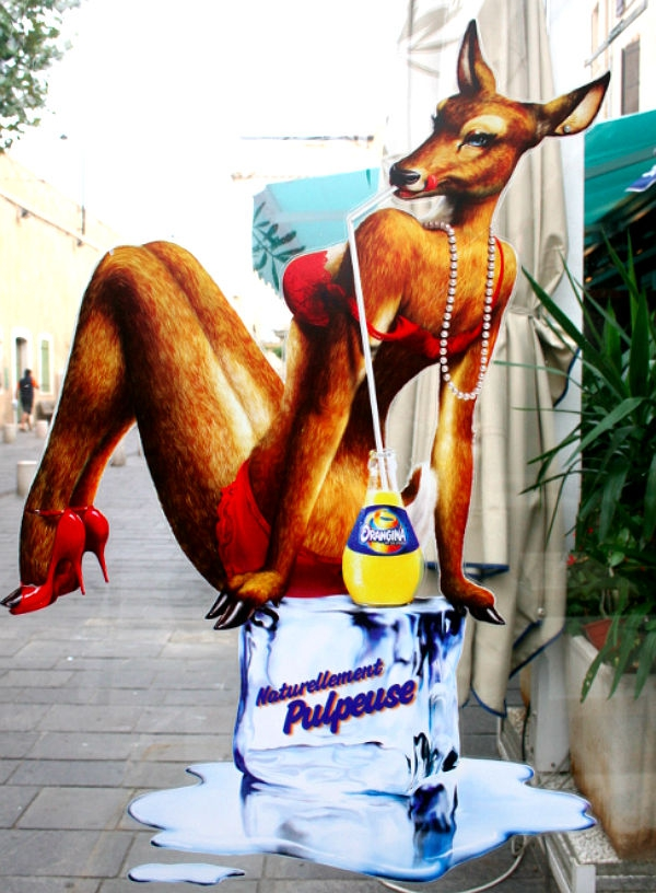 Utterly Ridiculous Orangina Ads Feature Erotic Animals
