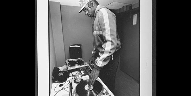 Shaquille O'Neal DJing at a Louisiana State University dorm in 1991