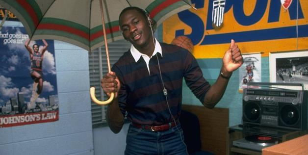 Michael Jordan in his dorm room at the University of North Carolina