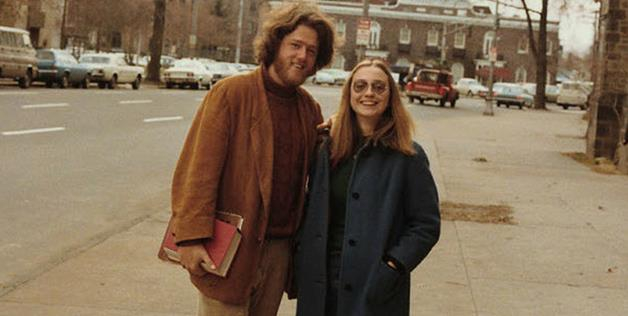 Hillary Rodham and Bill Clinton at Yale University in 1970.