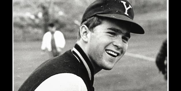 George W. Bush playing golf at Yale University