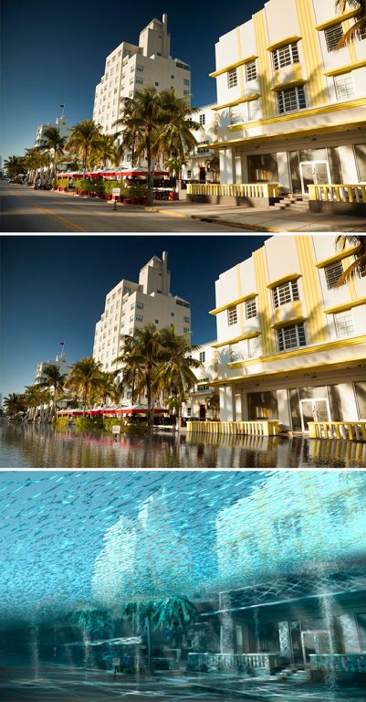 The Art Deco facades of Ocean Drive in Miami Beach