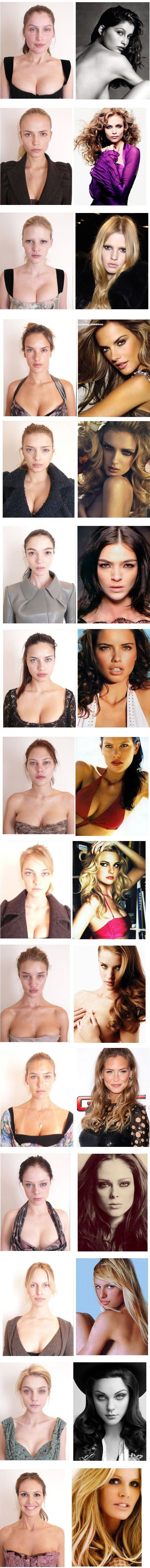 Victoria's Secret Models with No Make Up