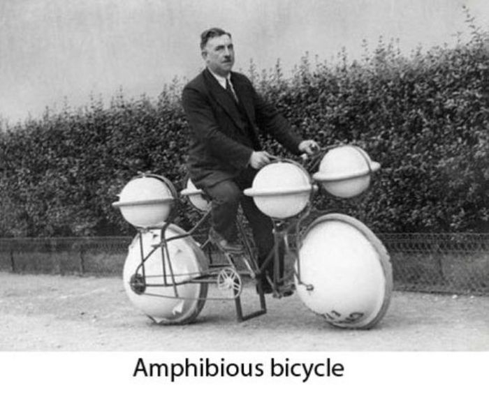 Amphibious bisycle