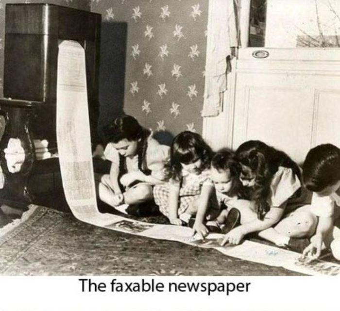 The faxable newspaper