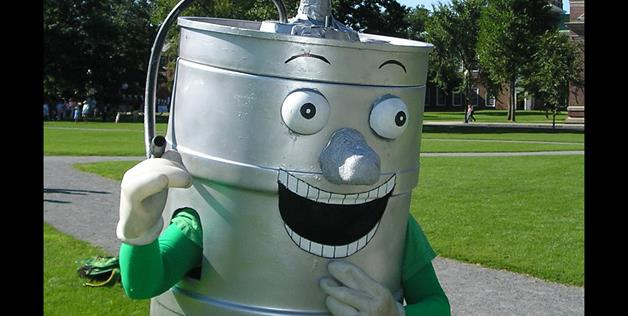 Keggy the Keg is the unofficial mascot of Dartmouth College.