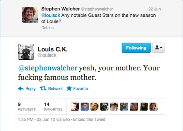 Louie C.K. Insulting His Fans on Internet, Hilarious