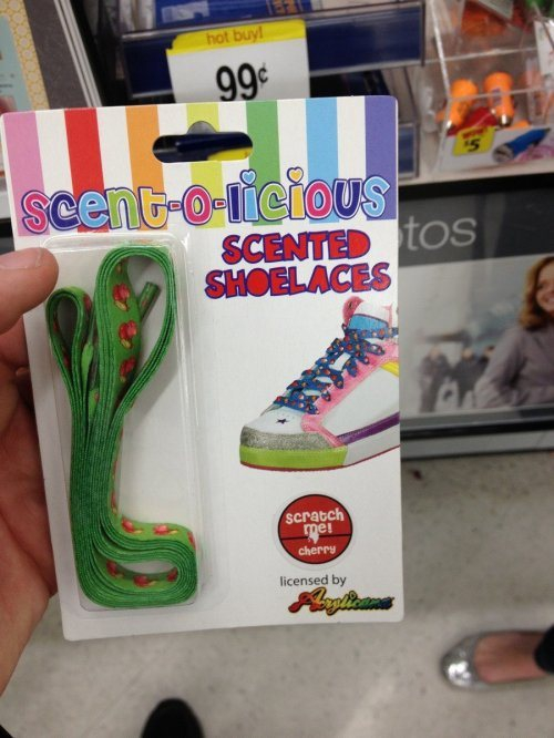 Scented shoe laces