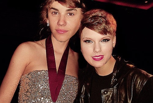 When Taylor Swift and Justin Bieber Swap Faces = Pretty Cute Couple