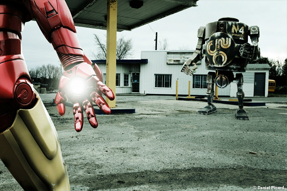 Iron man about to strike