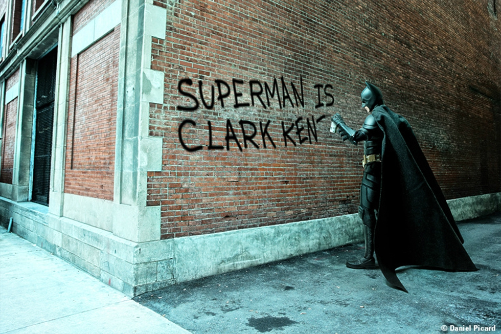 Batman Spray Painting