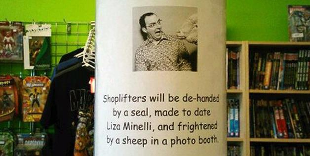 How Shoplifters Will Be Handled