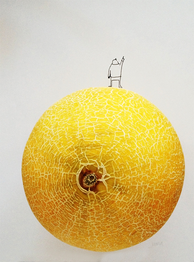 Blending cute illustrations with food