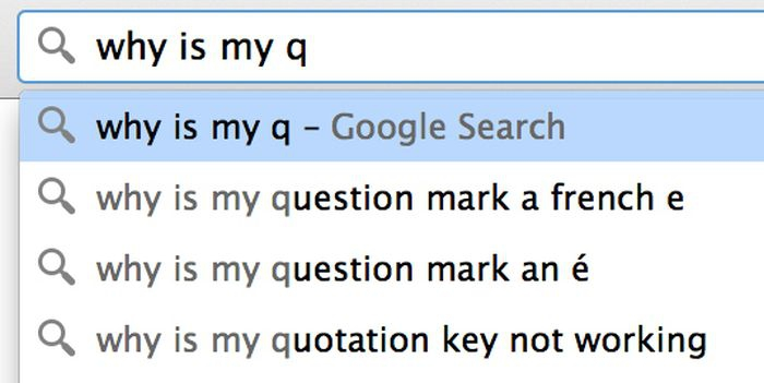 Google search: why is my q