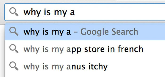 Google search: why is my a