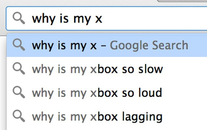 Google search: why is my x