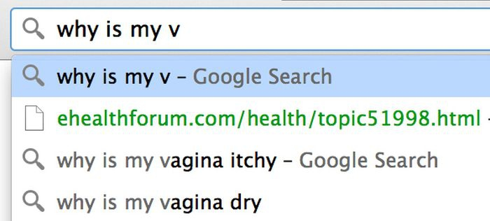 Google search: why is my v