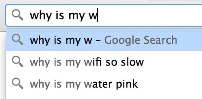 Google search: why is my w