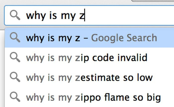 Google search: why is my z
