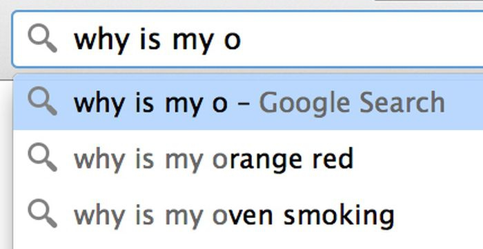 Google search: why is my o