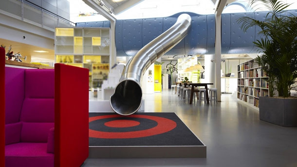7 Remarkable Buildings With Stylish Indoor Slides