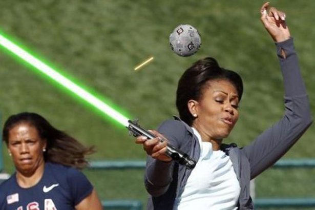 Michelle Obama Light Saber