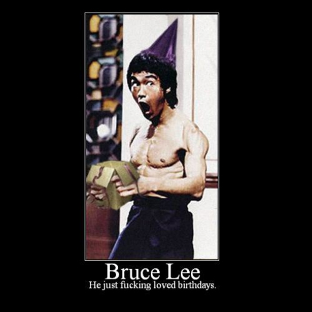 Bruce Lee Loves his Birthday