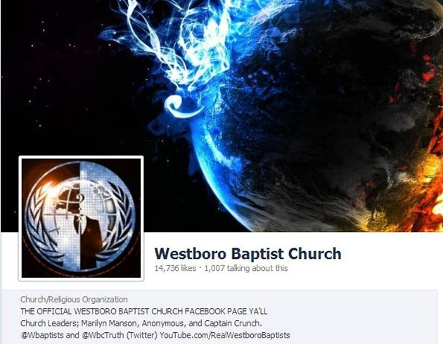 Favorite Ways Anonymous Has Trolled Westboro Baptist's Facebook Page