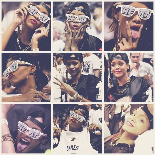After Canceling Concerts, Rihanna Showed Up At The Miami Heat Game