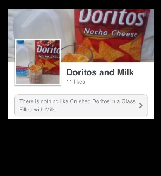 Doritos and Milk Facebook Page