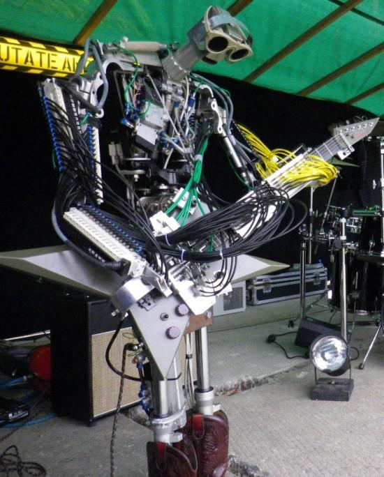 Meet Compressorhead, The World's First Robot-Only Band