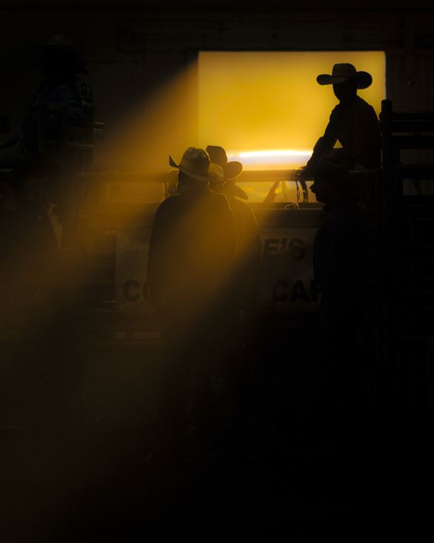 'Cowboy in a ribbon of light