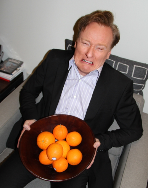 """There were too many oranges in this bowl."""