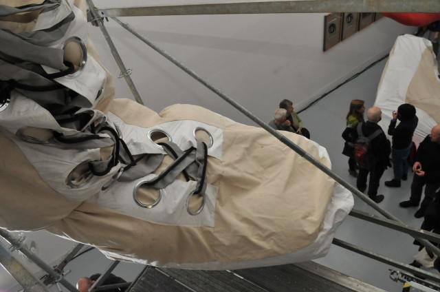 Giant Boot of The Giant Space Suit in Honor of the First Female Astronaut