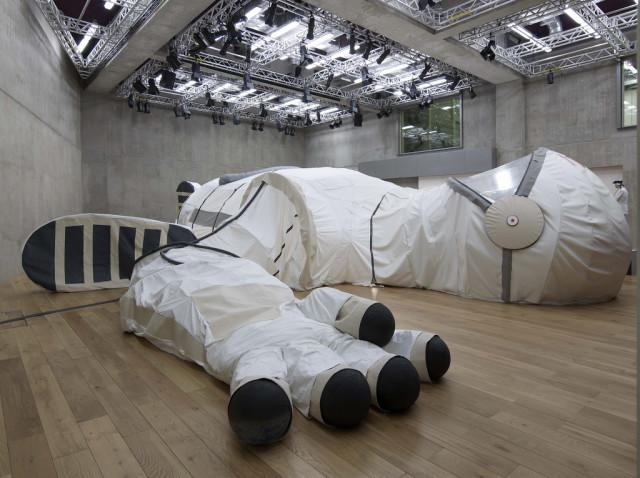 Giant Space Suit in Honor of the First Female Astronaut