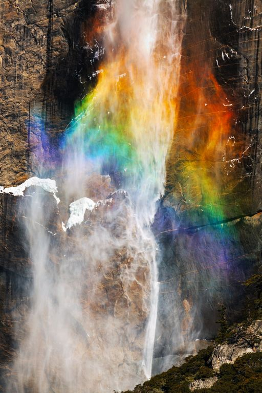 A stunning rainbow on Waterfall